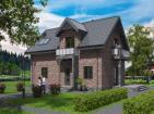 Одноэтажный жилой дом с мансардой, террасой и балконами